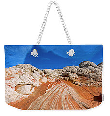 Weekender Tote Bag featuring the photograph Red Stone Highway by Mike Dawson