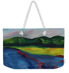Red Streak Lake Weekender Tote Bag