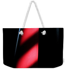Weekender Tote Bag featuring the digital art Red Stripes by Todd Blanchard