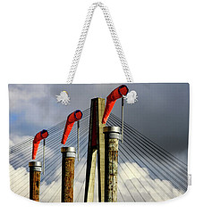 Red Subject Weekender Tote Bag by Menachem Ganon