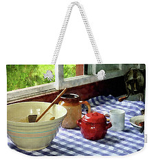 Red Sugar Bowl Weekender Tote Bag