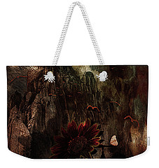 Weekender Tote Bag featuring the digital art Red Sunflower by Richard Ricci