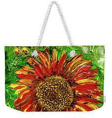 Red Sunflower Weekender Tote Bag
