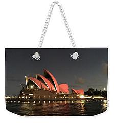 Red Sydney Opera House Weekender Tote Bag