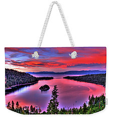 Red Tahoe Weekender Tote Bag