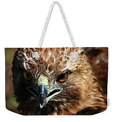 Weekender Tote Bag featuring the photograph Red-tail Hawk Portrait by Anthony Jones