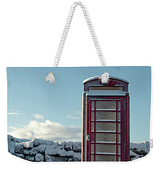 Red Telephone Box In The Snow IIi Weekender Tote Bag