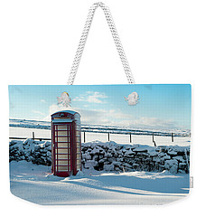 Red Telephone Box In The Snow V Weekender Tote Bag