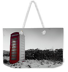 Red Telephone Box In The Snow Vi Weekender Tote Bag