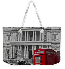 Red Telephone Boxes In London Weekender Tote Bag by Gary Eason