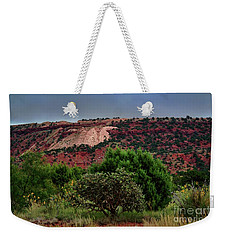 Weekender Tote Bag featuring the photograph Red Terrain - New Mexico by Diana Mary Sharpton