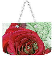 Weekender Tote Bag featuring the digital art Red by Terry Foster
