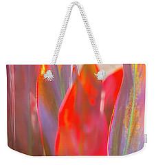 Red Ti Leaves 06 Weekender Tote Bag