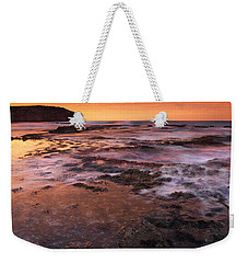 Red Tides Weekender Tote Bag by Mike  Dawson