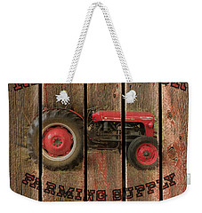 Red Tractor Farming Supply Weekender Tote Bag