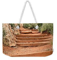 Red Trail Weekender Tote Bag