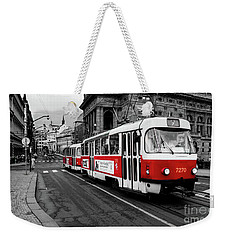 Red Tram Weekender Tote Bag