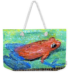 Red Tree Frog Weekender Tote Bag