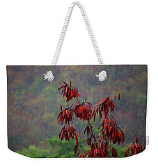 Red Tree In The Rain Weekender Tote Bag