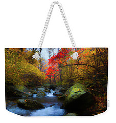 Red Tree In White Oak Canyon Weekender Tote Bag