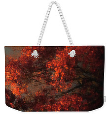 Red Tree Scene Weekender Tote Bag