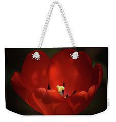 Red Tulip Weekender Tote Bag by Ernie Echols