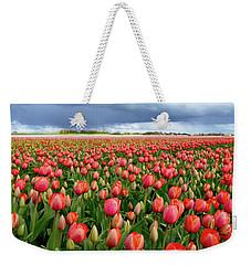 Red Tulip Field Weekender Tote Bag