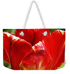 Red Tulip Weekender Tote Bag by Sarah Loft