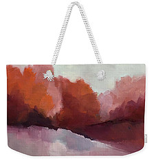 Weekender Tote Bag featuring the painting Red Valley by Michelle Abrams