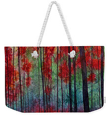Weekender Tote Bag featuring the painting Red Velvet by Hailey E Herrera