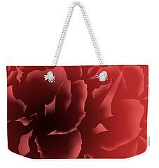 Red Velvet Peony Weekender Tote Bag