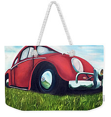 Red Vw Weekender Tote Bag