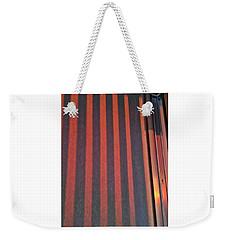 Red Wall Weekender Tote Bag