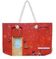 Red Wall White Bike Weekender Tote Bag
