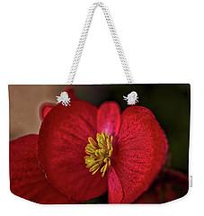 Red Wax Begonia Weekender Tote Bag