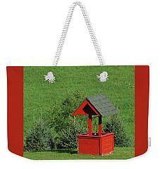 Red Well Weekender Tote Bag