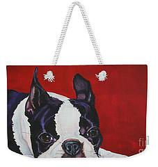Red White And Black Weekender Tote Bag