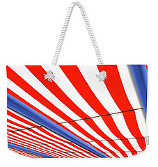 Weekender Tote Bag featuring the photograph Red White And Blue by Paul Wear