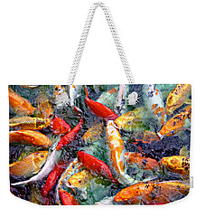 Red White And Gold Weekender Tote Bag