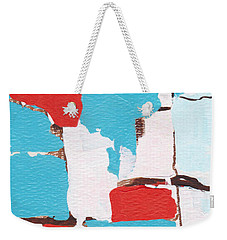 Red White Blue Abstract 31317 Weekender Tote Bag