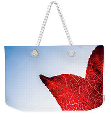 Weekender Tote Bag featuring the photograph Red White  Blue by Jingjits Photography