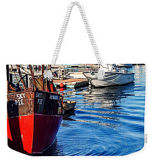 Weekender Tote Bag featuring the photograph Red White Blue by Kendall McKernon