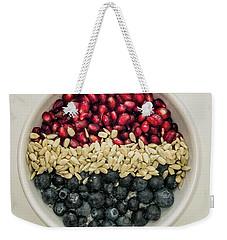 Red White Blue Power Breakfast Weekender Tote Bag
