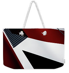 Weekender Tote Bag featuring the photograph Red White Blue by Rebecca Cozart