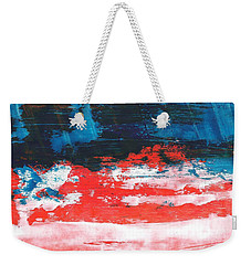 Red White Blue Scene Weekender Tote Bag