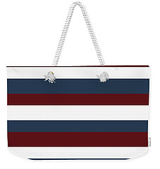 Red White Blue Stripes Weekender Tote Bag by P S