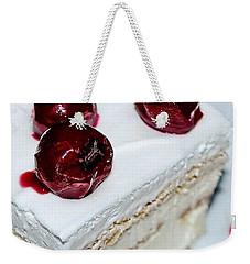 Red-white Cubes Weekender Tote Bag by Marija Djedovic
