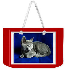 Red, White, Russian Blue Weekender Tote Bag