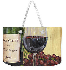Red Wine And Pear 2 Weekender Tote Bag by Debbie DeWitt