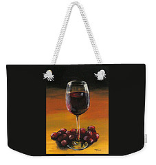 Red Wine And Red Grapes Weekender Tote Bag